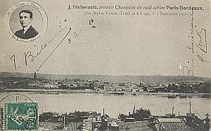 Bordeaux Early French Aviation Bielovuci Signed PC 1910