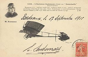 Bordeaux Early French Aviation Audemars Signed PC 1910