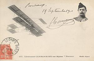 Bordeaux Early French Aviation Camermann Signed PC 1910