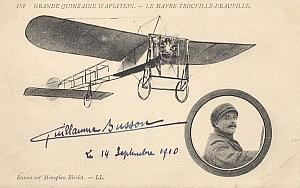 Trouville Early French Aviation Busson Signed PC 1910