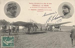 Trouville Early French Aviation Thomas Signed PC 1910