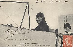 Le Havre Early French Aviation Leblanc Signed PC 1910