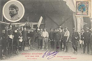 Nantes Early French Aviation Thomas Signed PC 1910