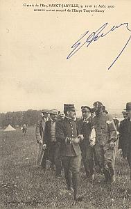 Nancy Early French Aviation Aubrun Signed PC 1910
