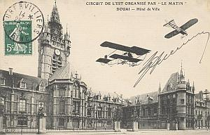 Douai Early French Aviation Aubrun Signed PC 1910