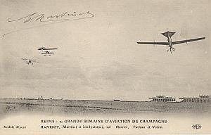 Reims Early French Aviation Martinet Signed PC 1910