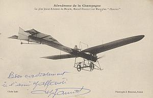 Reims Early French Aviation Hanriot Signed PC 1910