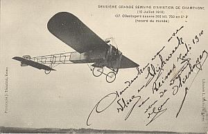 Reims Early French Aviation Olieslager Signed PC 1910