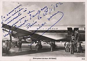 Air France Saint Exupery Memory Photo Postcard 1952