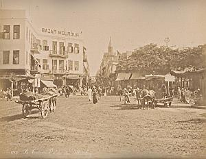Mousky Street & Thebe Cairo Egypt Bonfils 2 Photos 1880