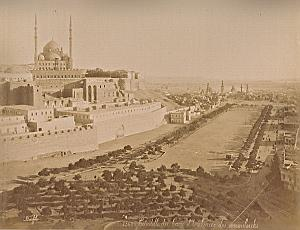 Citadel & Mosque Foutain Cairo Bonfils 2 Photos 1880