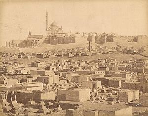 Citadel & Muslim Cemetery Cairo Egypt Old Photo 1880