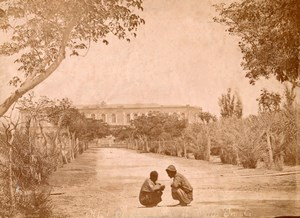 Kids Palace Street Ismailia Egypt Old Arnoux Photo 1880