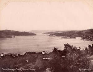 Asia Europe Coast Bosphorus Turkey Sebah Photo 1880