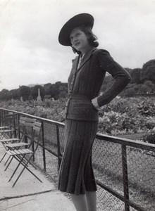 Anny Blatt Fashion Model Paris old Vigneau Photo 1935