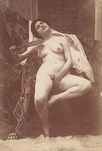 Woman Risque Nude Anatomic Study Canellas Photo 1890
