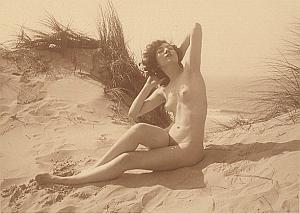 Women Nude Anatomic Outdoor Study old MEYS Photo 1930