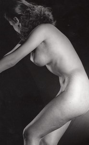 Women Risque Nude Anatomic Study old Photo 1960