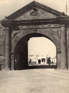 Essaouira Fort Cornut Door Morocco old Photo 1920