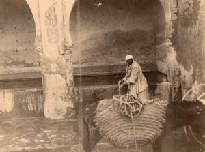 Essaouira Fountain Street Scene Morocco old Photo 1920