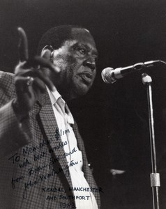 Pianist Memphis Slim Manchester Band on the Wall Brian Worthington Photo 1983