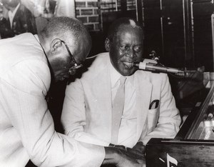 USA Memphis Pianist Memphis Slim Concert old Photo 1985