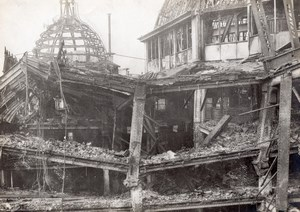 France Paris Fire Printemps Destruction Old Photo 1921