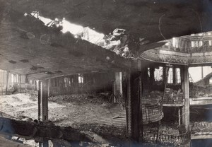France Paris Fire Printemps Destruction Old Photo 1921