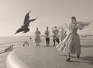 Roger Pic Photo URSS Samara Volga River Dancers 1960