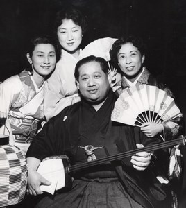 Japanese Hanyagui Dancers Paris Theater Photo 1954