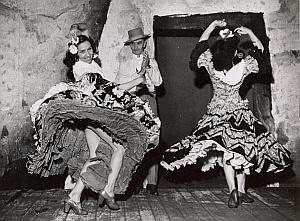Spanish Flamenco Dancers Escudero Paris Photo 1954
