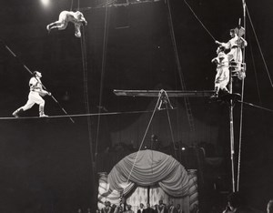 Moscow Circus Daghestan Funambuls Paris Photo 1956