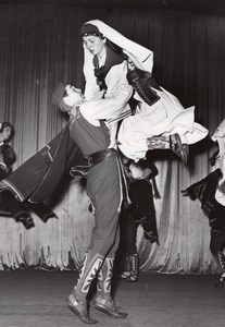 Yougoslavian Folkloric Ballet Paris Theater Photo 1958