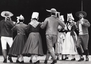 French Popular Dancers Paris Theater old Photo 1979