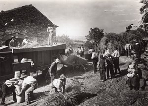 Harvest Time Auvergne Moissons Old Seeberger Photo 1930