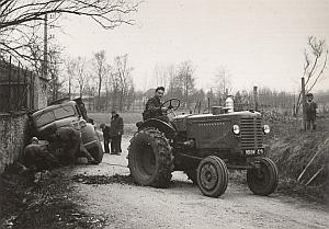 Truck Accident Tractor France Old Seeberger Photo 1940