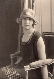 Woman Dress & Hat Fashion France Seeberger Photo 1930