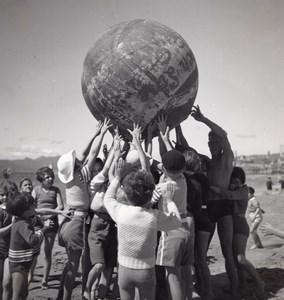 Holiday Beach Ball Players France Seeberger Photo 1930