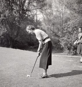 France Woman Golf Fashion Old Seeberger Photo 1930