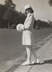 Young Lady Billioque Decr Fashion Seeberger Photo 1930