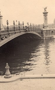 Bridge Alexandre Seine River Paris Post War Photo 1945