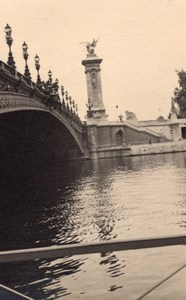 Pont Alexandre 3 Seine River Paris Post War Photo 1945