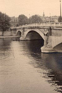 Bridge Zouave Seine River Paris Post War Old Photo 1945