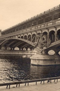 Bridge Detail Seine River Paris Post War Old Photo 1945