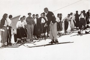Italy Sestriere Winter Sport Snow Ski Race Photo 1934
