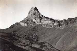 Aiguille de Morges Alpes Alps Mountain Old Photo 1900