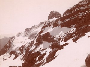Pic du Marbore Peak Snow Pyrenees Mountain Photo 1900