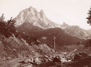 Pic du Midi Ossau Pyrenees Mountain Old Photo 1900