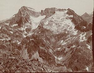 Pic du Balaitous Peak Pyrenees Mountain Old Photo 1900