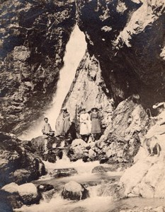 Waterfall Walkers Randonneurs Pyrenees Photo 1900